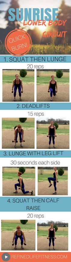 Lower body circuit to start your day off right! Just 5 minutes- you can do this! Click to watch the video