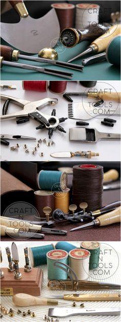 Leather craft tools and supplies #leathertools #leatherwork