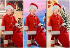 Внук Санты - новогодний фотошаблон для детей