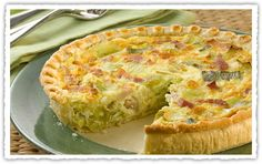 Leek and Bacon Flan Recipe – Recipes - Jus-Rol Pastry Savory Muffins, Savory Tart, Pastry Dishes, Savoury Dishes, Leek Recipes, Side Dish Recipes, Julian Recipe, Puff Pastry Recipes, Fish Dishes