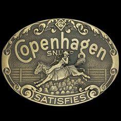 COPENHAGEN LONG CUT DOOR DECAL W//COWBOY