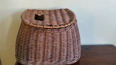 Vintage Wicker Fishing Creel Basket // Vintage Hobby // Father's Day Gift // Vintage Sport // Home Decor by GratefulBlessingsVtg on Etsy