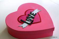 DIY Heart shaped box for Valentine's Day - NoBiggie.net