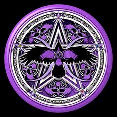 Purple Crow Pentacle Queen Duvet by Naumaddic Arts - CafePress Wiccan, Magick, Witchcraft, Spell Circle, Magia Elemental, Beautiful Dark Art, Nordic Tattoo, Magic Symbols, Occult Art