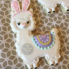 Llama bunny! Because I haven't decorated cookies since Halloween and I had this awesome new cutter. I just had to figure out a way to make…