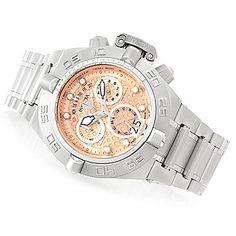 Invicta 50mm Subaqua Noma IV Swiss Made Quartz Chronograph Bracelet Watch w/ One-Slot Dive Case