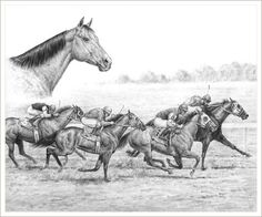 Drawings of Horses Running