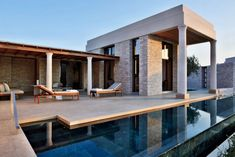 A private villa at Amanzo'e, a retreat on Greece's Peloponnese peninsula. Photo courtesy of Amanresorts