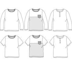 dd5336978b989 Patron de couture Pack Tee-shirt MARCEL PDF 3-12A