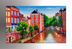 Schilderij Utrecht Donkere Gaard