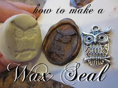 Craft Phesine: How to Make a Wax Seal Stamp from Sculpey Clay I really want to do this