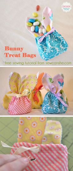 bunny treat bags - a free sewing tutorial — SewCanShe   Free Daily Sewing Tutorials