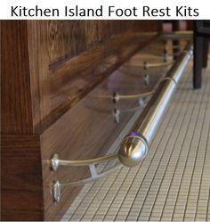 Kitchen Island Foot Rest - Create Custom Kit - 8 Finishes - Feet Rail Remodel | Home & Garden, Kitchen, Dining & Bar, Kitchen Islands/Kitchen Carts | eBay!