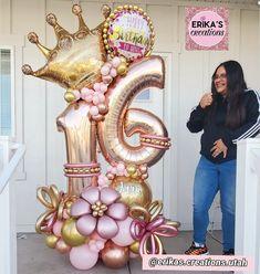 Balloon Crafts, Birthday Balloon Decorations, Balloon Gift, Birthday Balloons, 21 Balloons, Baby Shower Balloons, Princess Balloons, Birthday Bouquet, Personalized Balloons