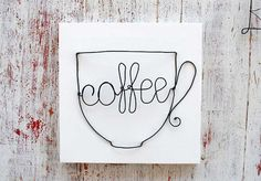 Hot Coffee Ideas, Fresh Off The Press. Millions of people enjoy drinking coffee, however many are unsure of their own brewing capabilities. In order to create better-tasting coffee, it's importa Wire Hanger Crafts, Wire Crafts, Jewelry Crafts, Metal Yard Art, Metal Art, Coffee Art, Coffee Cups, Art Fil, Wire Wall Art