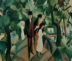 August Macke: Spaziergang