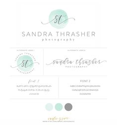 Watercolor Calligraphy Logo with alternate logos   by IndieGrace