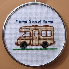 Handmade RV Cross Stitch by RikkasCreations on Etsy