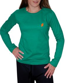 Green Ireland Long Sleeve TShirt - The women's Ireland Long T-Shirt™ is a simple, elegant long sleeve t-shirt that combines superior comfort with a subtle Irish statement.  Whether you wear your Ireland Long T-Shirt™ for recreation, athletics, or as a pajama top, people who know Ireland will know you are Irish.