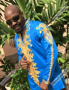 Odeneho Wear Men's Polished Cotton Top Only With by Odenehowear