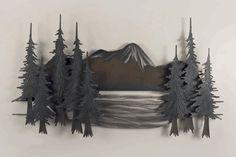 Mountain Lake I Metal Wall Art - Size is 48 in. x 28 in. x 3.5 in.