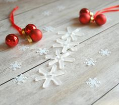 Icy glass star ornaments