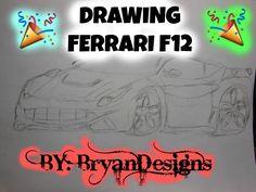 DRAWING FERRARI F12 | BRYANDESIGNS