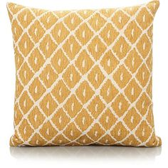 Chenille Ikat Cushion   Yellow