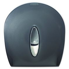 "Georgia-Pacific GP 59009 Translucent Smoke Jumbo Jr. Bathroom Tissue Dispenser, 10.61"" Width x 11.29"" Height x 5.39"" Depth #Georgia #Pacific #Translucent #Smoke #Jumbo #Bathroom #Tissue #Dispenser, #Width #Height #Depth"