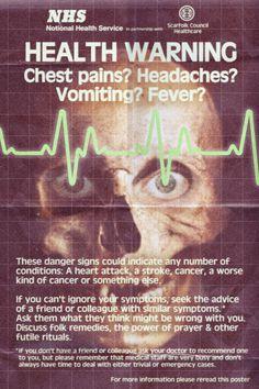 NHS Health Warning Poster (1978)