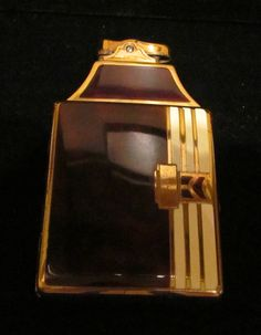1930s Ronson Case Lighter Cigarette Lighter Cigarette Case Faux Tortoise Shell Gold Tone Enamel Working Gorgeous