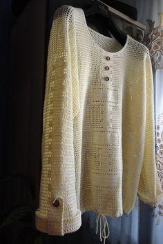 "Photo from album ""Вязалочки"" on Yandex. Crochet Tunic, Crochet Clothes, Crochet Stitches Patterns, Stitch Patterns, Knitted Hats, Men Sweater, Knitting, Tops, Projects"