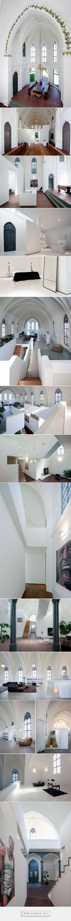 Church conversion into a residence in Utrecht by Zecc | Yatzer - created on…