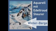 Winterliche Berge - Schnee Aquarell - mountains - snow watercolor Snow Mountain, Watercolor, Mountains, Videos, Art, Mountain Landscape, Winter Scenery, Watercolor Painting, Snow