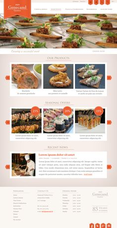 99designs contest. Website for catering company. #webdesign