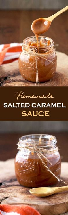 This Salted Caramel Sauce is easy to make, quick, thick, smooth and sweet with a hint of salt. Spoon it over ice cream, cakes, pies or eat it by the spoonfuls like I do!! No thermometer required! #caramel #easyrecipe via @lmnblossoms