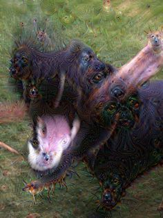 The more blurred the original, the more weird Deep Dream can add.