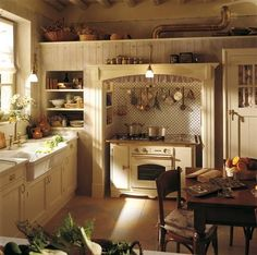 Image detail for -English Country Kitchen Style in Beige and White 3 Fabulous…