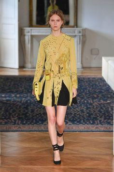 Valentino spring 2017 collection. A divine chartreuse story. A dream of a dress.