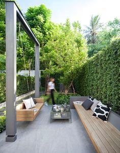 Small Backyard Gardens, Small Backyard Design, Backyard Patio Designs, Small Backyard Landscaping, Outdoor Gardens, Backyard Ideas, Farm Gardens, Balkon Design, Courtyard Design