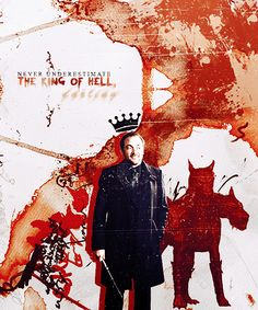 Crowley: Never underestimate the King oF Hell, darling. #spn