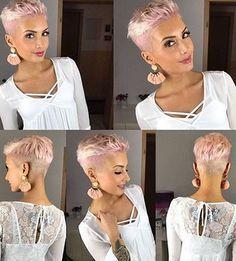85 New Best Pixie Cut Ideas for 2019 - Love this Hair - kurzhaarfrisuren Super Short Hair, Short Grey Hair, Short Hair Cuts For Women, Summer Haircuts, Short Pixie Haircuts, Pixie Hairstyles, Prom Hairstyles, Short Pixie Cuts, Undercut Pixie Haircut
