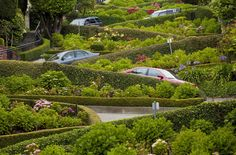 San Francisco's Lombard Street has become one of the city's most visited sites. Tourists often gather to watch as drivers make their way through the hairpin turns. Completed in 1922, the street was designed to slow cars down on its steep hill. Drivers are advised to proceed at 5 m.p.h.