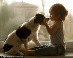 Photographer mum captures relationship between her son and his dogs in Poland | Daily Mail Online