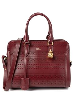 Alexander McQueen Small Padlock Tribal Perforated Shoulder Bag