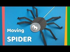 DIY for kids Moving Spider craft, Very easy and fun craft. Check out this very easy but super fun craft for kids. They just love running around with it and making the tic tic sound spider makes :) You will only need paper, and basic tools. Magic Crafts, Bug Crafts, Preschool Crafts, Spider Art Preschool, Craft Work For Kids, Diy For Kids, Kids Fun, Halloween Crafts For Kids, Paper Crafts For Kids