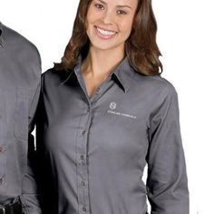 Buy custom embroidered Harriton promotional products online at EZ Corporate Clothing; men's and ladies Harriton Oxford shirts and fleece jackets, no minimum