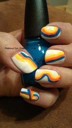 Rainbow nails!  Jax Nails