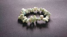Amazonite Crystal Chip Stretch Bracelet by ShopAtJulesCrowther on Etsy
