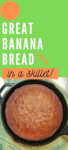 Sour Cream Banana Bread, Homemade Banana Bread, Make Banana Bread, Baked Banana, Cast Iron Skillet Dessert Recipe, Iron Skillet Recipes, Cast Iron Recipes, Easy Donut Recipe, Best Bread Recipe